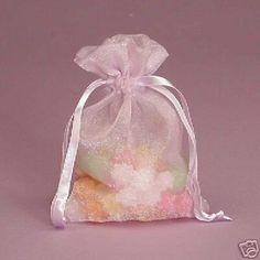Lavender Wedding Favor Bags