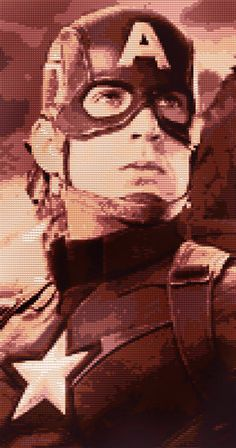 Captain America Cross Stitch Pattern by CrossStitchTreasury