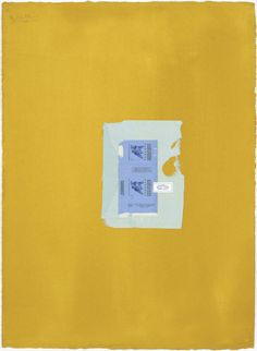 Robert Motherwell / In Yellow Ochre with Two Blues (1968) [t]