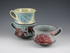 Peony Mug in Blue and Yellow. $42.00, via Etsy. michelle swafford