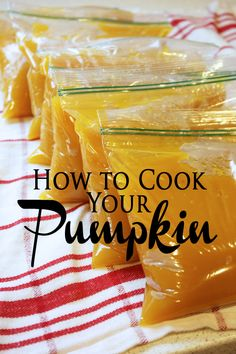 Wondering what to do with that pumpkin once the holidays have passed?  Learn how to cook it and enjoy it for months to come!