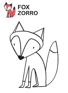 dibujo de zorro para colorear