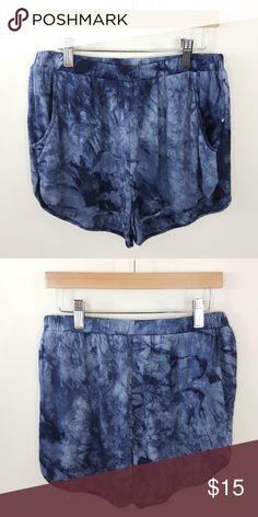 The dye short shorts Tie dye shorts with pockets 95% rayon 5% spandex Shorts