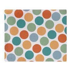Impressionist Retro Circles Throw Blanket $66.89