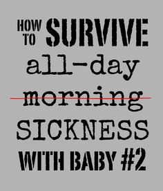 5 secrets to survive all-day morning sickness when you're taking care of a little one from @Carla // small + friendly
