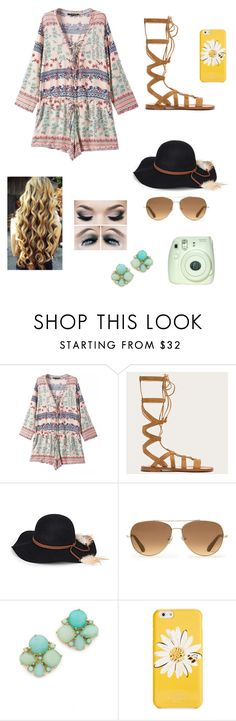 """""""Summer Time"""" by petite-chic ❤ liked on Polyvore featuring Chicnova Fashion, Frye, Steve Madden, Stella & Dot and Kate Spade"""