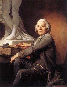 Christophe-Gabriel Allegrain. Retrato hecho por Duplessis, 1774.  Obra actualmente expuesta en el Museo del Louvre, Francia. Allegrain fue un escultor francés de estilo neoclásico; la mayoría de sus obras son de personajes icónicos mitológicos: Diana, Venus, Narciso, etc.