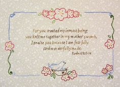 Beautiful scripture for a baby quilt Quilting Templates, Quilting Projects, Quilting Designs, Cross Stitch Baby, Cross Stitch Embroidery, Machine Embroidery, Baby Girl Quilts, Girls Quilts, Baby Bibs Patterns