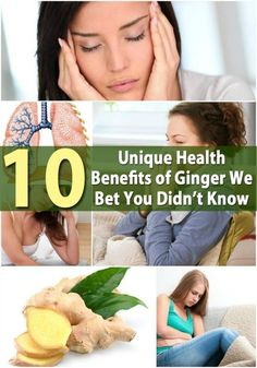 10 Unique Health Benefits of Ginger We Bet You Didn't Know
