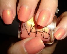 the famous NARS blush 'orgasm' in a nail polish... why did i only learn this today...