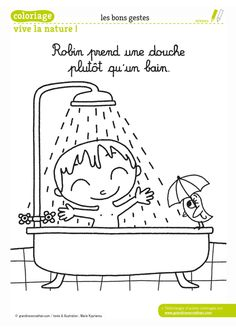 / Shower or bath? Felt Doll House, People Coloring Pages, French Course, Personal Hygiene, Cartoon Pics, Edd, Felt Dolls, Coloring Pages For Kids, Fine Motor