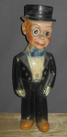 Vintage Charlie McCarthy Carnival Chalkware Statue Figure,1938