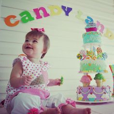 Candy land First Birthday Party
