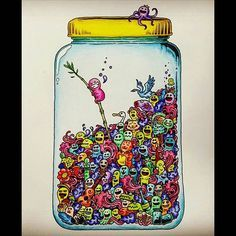 Instagram media smile__94__ - #낙서침공 #doodleinvasion #doodleinvasioncoloringbook #컬러링북 #coloringbook #coloringbooks #coloringbooksforgrownups #색칠공부 #jar