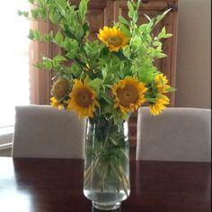 A different sunflower arrangement ...