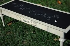 Chalk board top coffee table