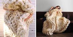 Tricotez cette couverture géante en seulement 45 minutes, sans baguettes! Apprenez comment faire! - Décorations - Trucs et Bricolages