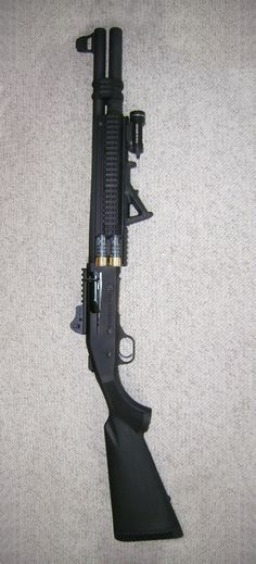 Mossberg 930 SPX; mods: Nordic mag extension, magpul afg, Aimpro tri-rail, Side armor 2 shell holder, Streamlight TLR-1