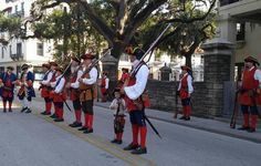 At 6 p.m., see history come to life when 18th century Spanish soldiers march down St. Augustine's St. George Street from the Colonial Quarter to theGovernor's House Cultural Center & Museumwhere they perform authentic military drills before firing an exciting volley of musketry. The event features the St. Augustine Garrison.