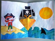 """Idées Anniversaire Pirate, la carte d'invitation """"à l'abordage les pirates !"""""""