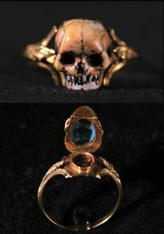 18th century European mourning #skull #ring #jewelry