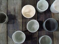 kirstie van noort // little finger // cups out of ceramics and porcelain