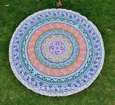 Indian-Round-Mandala-Yoga-Mat-Wall-Hanging-Boho-Beach-Throw-Tapestry-Towel-Decor