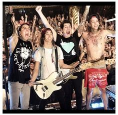 I love how Mike always preforms shirtless. :D