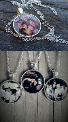 25mm Custom printed picture pendant with a 75cm chain
