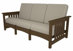 Club Mission Sofa in Teak by POLY~WOOD, Inc.. $2035.29. Eco-friendly product with over 90% recycled materials. Poly-Wood lumber requires no painting, staining, waterproofing, or similar maintenance. Poly-Wood lumber does not splinter, crack, chip, peel or rot and it is resistant to. Solid, heavy-duty construction withstands nature's elements. Constructed of durable HDPE Poly-Wood lumber that provides the look of painted wood without the. mfr: POLY~WOOD, Inc. This roomy, comfo...