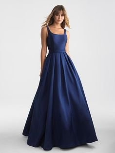 Elegant Navy Blue Long Prom Dresses Evening Dresses