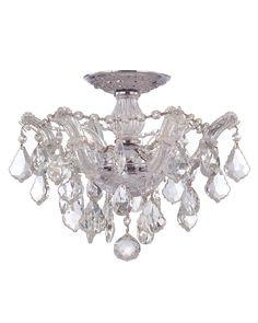 Rue La La — 3-Light Maria Theresa Semi Flush with Swarovski Crystals