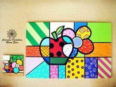 Individual Manzana con portavaso Pop Art Design, Arte Pop, Country Art, Diy Crafts, Activities, Creative, Kid Art, Painting Abstract, Throw Pillows