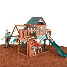 "Swing - N - Slide W""Ter Wood Complete Ready - To - Assemble Swing Set Kit (Toy)"