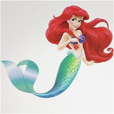 The Little Mermaid Peel and Stick Giant Wall Decals, Multicolor