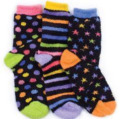 Fuzzy Socks by LittleMissMatched