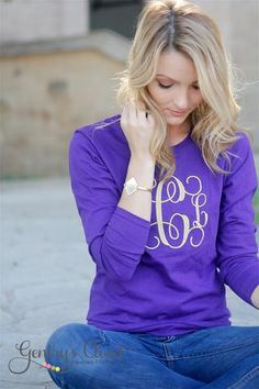 Women's Shirt with Embroidered Monogram