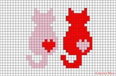 Cats Pixel Art – BRIK - I want try them mirrored rather than copies Cat Cross Stitches, Cross Stitch Charts, Cross Stitching, Cross Stitch Embroidery, Hand Embroidery, Cross Stitch Patterns, Crochet Pixel, Crochet Cross, Crochet Chart