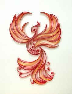 Paper quilling Firebird by Hyvoky on Etsy