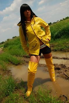 Macs and Boots Mud Boots, Wellies Boots, Rain Boots, Pvc Raincoat, Yellow Raincoat, Vinyl Raincoat, Mudding Girls, Rain Jacket Women, Rain Gear