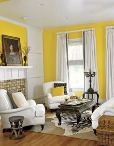 Life is too short for yellow walls.  Via live Like You    #colorpalette #interiordesign