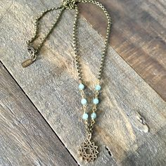 Heart Chakra Gemstone Delicate Necklace. #chakra #aventurine