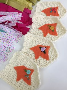 Foxes Orange Fox Garland Woodland Nursery Felt by thelittlefoxes