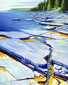 Margarethe Vanderpas - Fine Artist - About - Bruce Peninsula Watercolor Landscape, Landscape Art, Landscape Paintings, Watercolor Art, Landscapes, Seascape Paintings, Painting Abstract, Art For Art Sake, Pastel Art