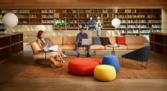 Modular sofa Zinta by Arper, Design Lievore Altherr Molina Waiting Room Design, Waiting Area, Corporate Interiors, Office Interiors, Sofa Design, Furniture Design, Interior Design, Divani Design, Muebles Living