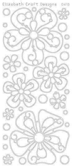 Elizabeth Craft Design PeelOff Sticker 0413G Big by PNWCrafts, $2.10