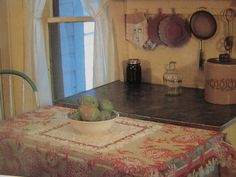 Kitchen table at Rocky Ridge Farm near Mansfield, MO, where Laura and Almanzo settled and lived out their lives.