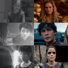 The 100 Clarke,Bellamy and Octavia