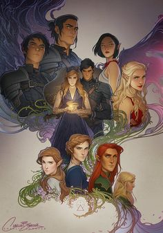A Court of Wings and Ruin art by Charlie Bowater! Her art is so beautiful! A Court Of Wings And Ruin, A Court Of Mist And Fury, Throne Of Glass, Character Inspiration, Character Art, Character Design, Fanart, Charlie Bowater, Fantasy Magic