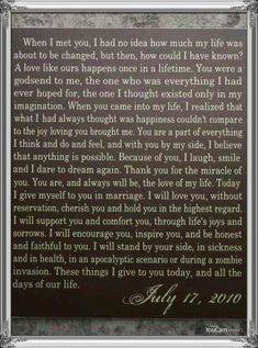 31 ideas wedding vows that make you cry ideas beautiful – Best Wedding Ceremony Ideas Vow Examples, Wedding Vows Examples, Wedding Ceremony Ideas, Wedding Readings, Wedding Ceremony Checklist, Wedding Planning, Wedding Events, Romantic Wedding Vows, Best Wedding Vows